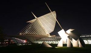 Milwaukee Art Museum. Image by Cburnett from Wikipeida Commons.